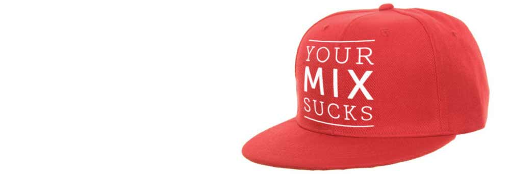DJ Producer Cap YOUR MIX SUCKS red buy mixed by marc mozart