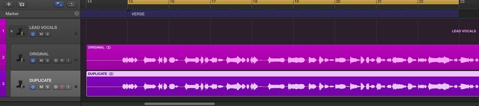 parallel processing duplicate track logic pro x